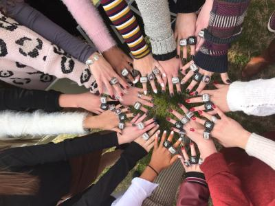 Northgate High 2018 competitive cheerleading champions receive their state rings