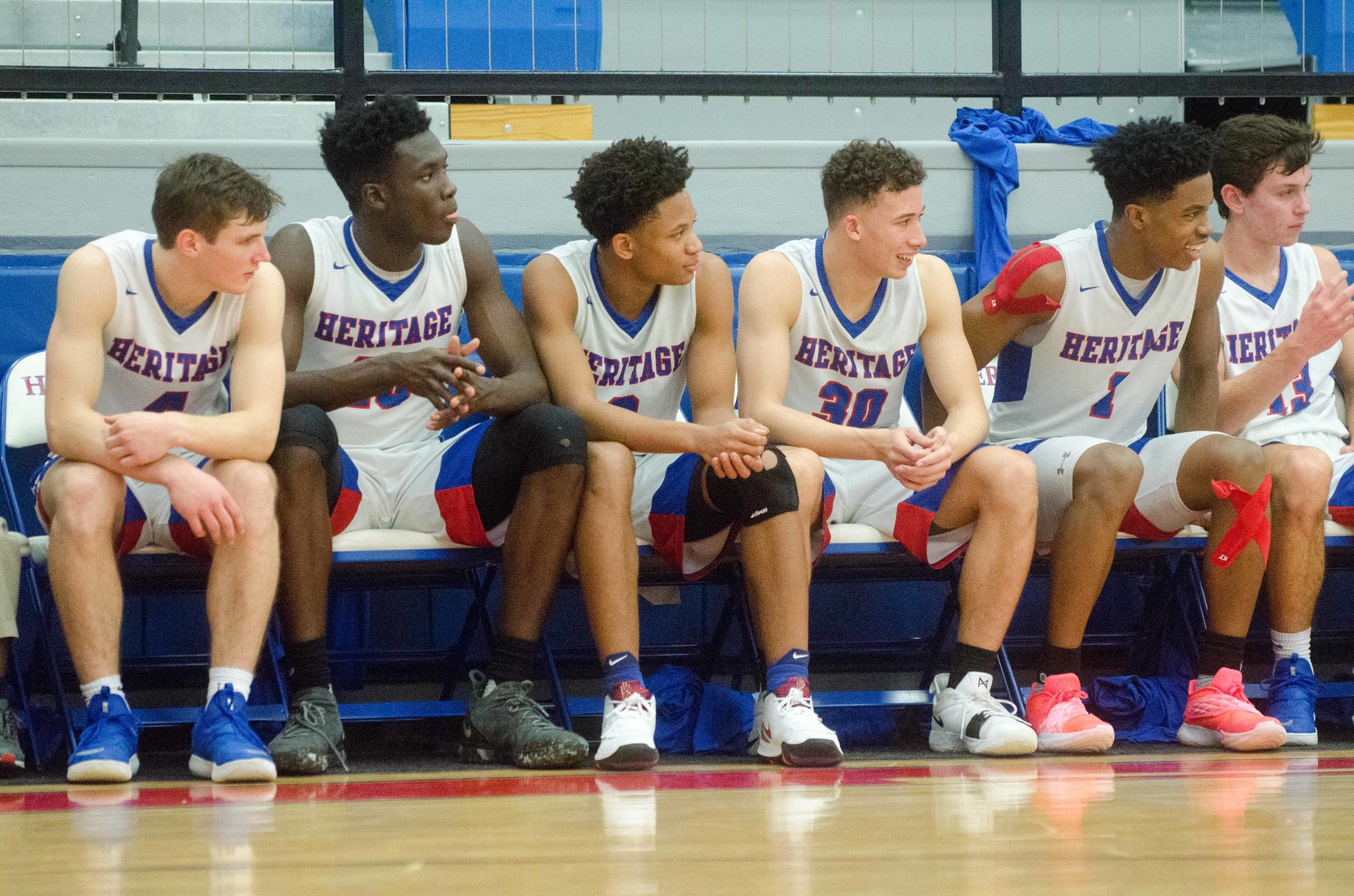 Heritage's starting five led a 24-point opening quarter in a quarterfinal win over Loganville Chr.