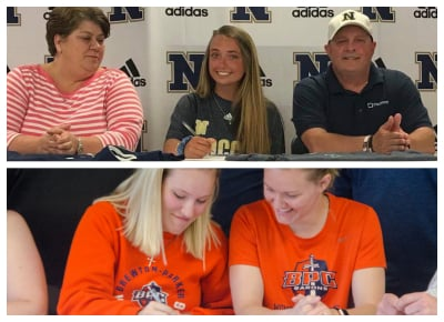 Ashleigh Smitherman (top) and Taylor Price (bottom) signed letters of intent this month at Newnan.